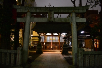 The Ebisu Shrine right outside the Dagashi Bar!